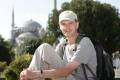 Toerist in Istanboel stock afbeelding
