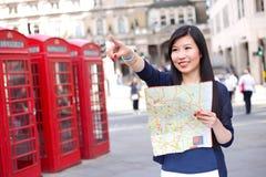 Toerist in Londen stock foto