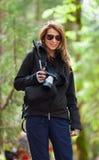 Toerist met camera Royalty-vrije Stock Foto's