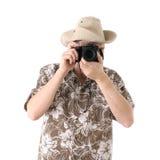 Toerist met camera Royalty-vrije Stock Foto