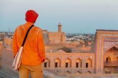Toerist in Oezbekistan stock fotografie