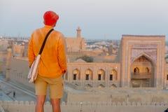 Toerist in Oezbekistan royalty-vrije stock fotografie