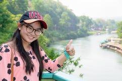 Toerist op de bruggezichtspunt van de Doodsspoorweg Stock Afbeelding