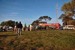 Toerist op Signaalheuvel, Cape Town Stock Fotografie