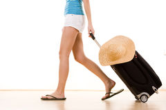 Toerist op vakantie Stock Afbeelding