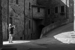 Toerist in Perugia Royalty-vrije Stock Foto's