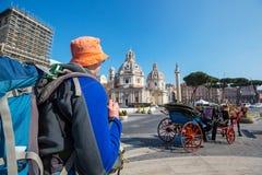 Toerist in Rome royalty-vrije stock foto