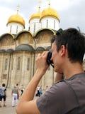 Toerist in Rusland royalty-vrije stock fotografie