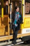 Toerist in San Francisco stock foto