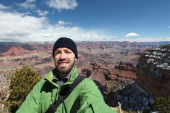 Toerist selfie in Arizona royalty-vrije stock afbeelding