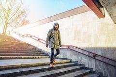Toerist in stedelijk milieu royalty-vrije stock foto's