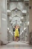 Toerist in tempel Royalty-vrije Stock Afbeelding