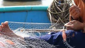Toerist Vietnam visserij stock videobeelden
