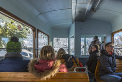 Toeristen in bergen Royalty-vrije Stock Foto's
