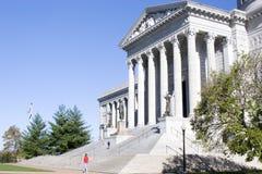 Toeristen bij het Capitool van de Staat van Missouri Stock Foto