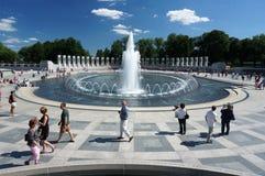 Toeristen bij het Vreedzame Gedenkteken stock fotografie