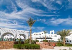 Toeristen bij Hurghada-hotel Stock Afbeeldingen