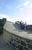 Toeristen bij Kasteel Stirling in Schotland Royalty-vrije Stock Foto's