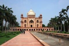 Toeristen bij Safdurjung Graf, New Delhi, India Stock Foto's