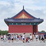 Toeristen bij Tempel van Hemel, Peking, China Stock Fotografie