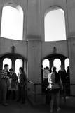 Toeristen bij Toren Coit Royalty-vrije Stock Foto's
