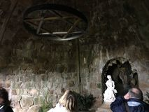Toeristen binnen Vrijmetselaars- Loge bij Sintra-Stad Royal Palace Stock Fotografie