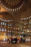 Toeristen in Blauwe moskee Stock Afbeelding