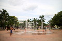 Toeristen in Cozumel Royalty-vrije Stock Foto