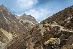 Toeristen in de Himalayan-bergen, Nepal Royalty-vrije Stock Foto's