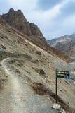 Toeristen in de Himalayan-bergen, Nepal Royalty-vrije Stock Foto