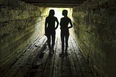 Toeristen in de houten sluis van de dam Royalty-vrije Stock Fotografie