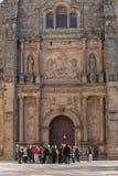 Toeristen in de kapel van Salvador stock afbeelding