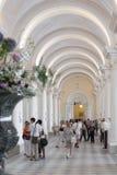 Toeristen in de Kluis, St. Petersburg Stock Foto's