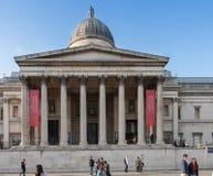 Toeristen die op Trafalgar Square lopen Royalty-vrije Stock Fotografie