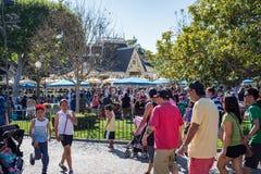Toeristen in Disneyland stock afbeeldingen
