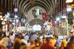 Toeristen in Egyptische Bazaar Royalty-vrije Stock Fotografie