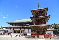 Toeristen en het Japanse lopen in de Tempelgrou van Naritasan Shinshoji Royalty-vrije Stock Fotografie