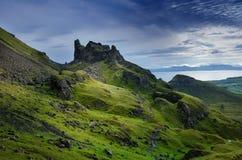 Toeristen favoriete plaats in Schotland - Eiland van Skye Zeer beroemd kasteel in het Schotland geroepen kasteel van Eilean Donan Stock Fotografie