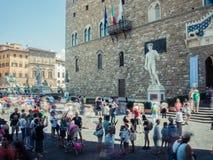 Toeristen in Florence Royalty-vrije Stock Foto's