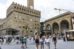 Toeristen in Florence Stock Foto's