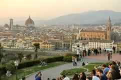 Toeristen in Florence, Italië Stock Afbeeldingen