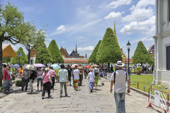 Toeristen in Groot Paleis, Bangkok Royalty-vrije Stock Foto