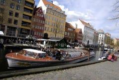 Toeristen in Kopenhagen Royalty-vrije Stock Foto's