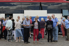 Toeristen in Kopenhagen Stock Fotografie