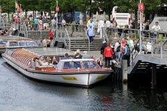 Toeristen in Kopenhagen Stock Foto's
