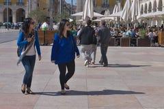 Toeristen in Lissabon Stock Foto
