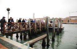 Toeristen in Murano Royalty-vrije Stock Afbeelding