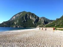 Toeristen op de Lycian-manier stock foto