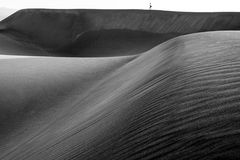 Toeristen op duinen in Maspalomas Stock Afbeelding