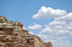 Toeristen op Meningspunt bij het Nationale Park Arizona van Grand Canyon royalty-vrije stock afbeeldingen